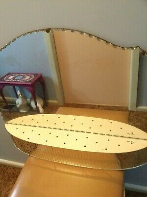 Large Antique Art Deco Mirror With Shelf / Free Standing Or Hanging