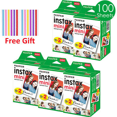 100 Sheets Fuji Instax Mini Film For Fujifilm Mini 7s 8 9 70 90 Polaroid 300