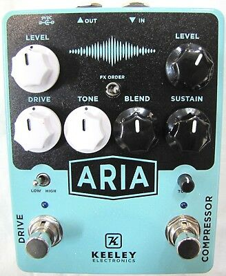 Used Keeley Aria Compressor Drive Guitar Effects Pedal
