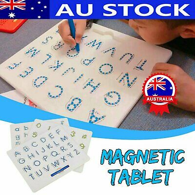 Magnetic Tablet Magnet Drawing Lowercase Alphabet Letter Board Learning Toy #T