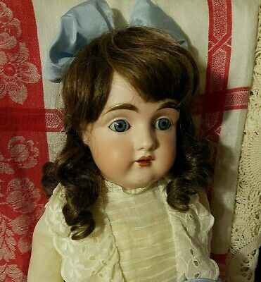 "Antique Early Large 28"" KESTNER 154 DEP GERMAN BISQUE Shoulder Head Doll ~ NICE!"