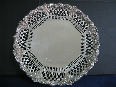 "BLACK, STARR & FROST STERLING 10 1/8"" FOOTED PLATE...LOVELY CHASED n RETICULATED"
