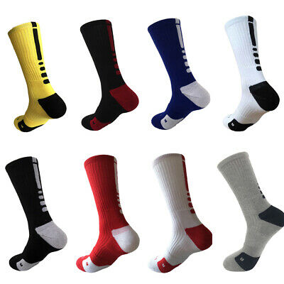 Trendy Men Towel Cushioned Crew-Athletic Football Sweat Absorption Sports Socks