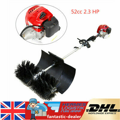 52cc 2.3HP Gas Sweeper Petrol Sweeping Broom Brush Road Cleaning Tool 1.7kW NEW