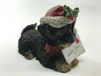 Christmas Xmas Puppy Dog With Love Letter <Hm04 (T46)