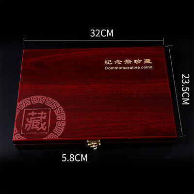 Wooden Box Capsules Safety Display Cases Storage Container Coin Holder #l