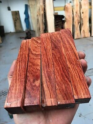 5 x African Rosewood Pen Blank 22x22x150 /Exotic Wood/Woodturning/high Figure