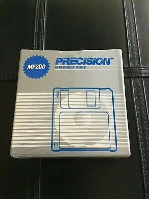 Brand New PRECISION MF2DD 10pcs pack FLEXIBLE DISKS (New, Never been opened)
