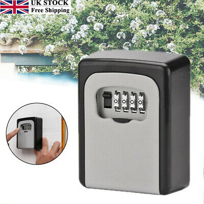 4 Digit Outdoor High Security Wall Mounted Key Safe Box Code Safety Lock-Storage