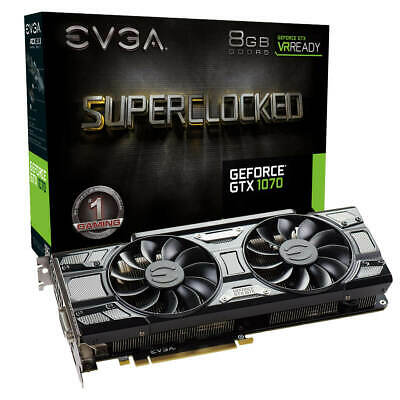 EVGA GeForce GTX 1070 SC GAMING,Grafikkarte, 8GB GDDR5, ACX 3.0 & Black Edition
