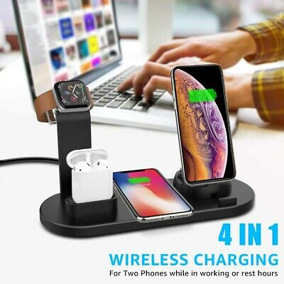 4 in 1 Charging Dock Charger Stand For Apple Watch Series/AirPods/iPhone Station