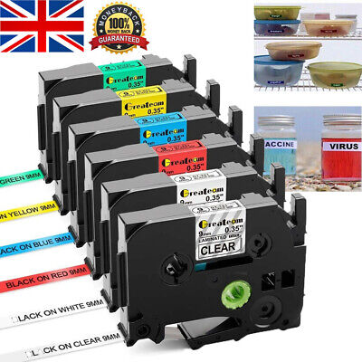 Compatible Brother TZ Tze Label Tape Printer P-Touch Laminated 18mm/12mm/9mm x8m