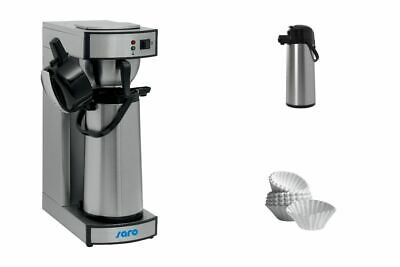 Coffee Maker with 2 Pumpkannen and 1000 Pcs Korbfilterpapier Gastronomy Saro
