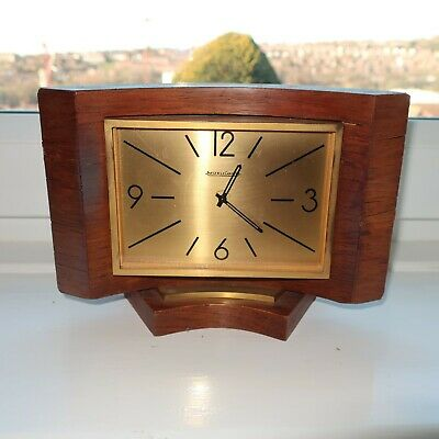 Vintage Jaeger le Coultre Wooden cased mantle Clock- Working but needs Servicing