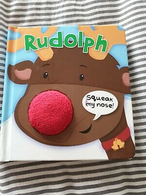 Rudolph Squeak My Nose Baby Board Book