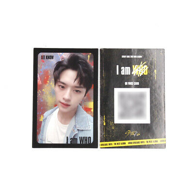 [Stray Kids]I am WHO Official QR Photocard / BLACK / Selfie - LEEKNOW