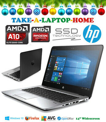 HP Elitebook A10 QuadCore Gaming Laptop Radeon R6 240Gb SSD 8Gb Ram Windows10