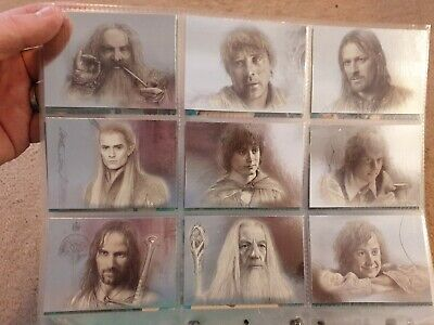 Lord Of The Rings Masterpieces 9 Card Art Foil Set