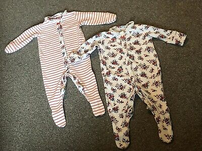 All In One Sleep suits Baby grows Up To 3 Months Next Girls