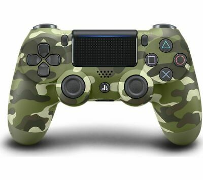 Official Sony DualShock 4 V2 Wireless Controller Gamepad - Green Camo Camouflage