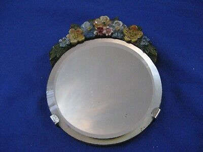 Antique/  Vintage Small Flowers  Wall Mirror