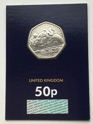 2018 Royal Mint 40th Anniversary - The Snowman 50p Fifty Pence Certified BU