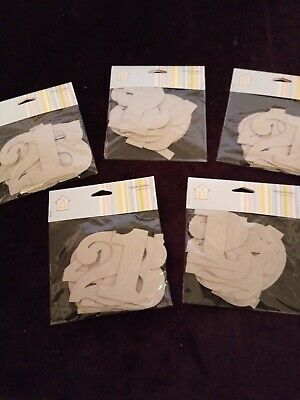 Wholesale lot of 5 set's of Craft's House Chipboard Numbers 1 to 10    [ CHN ]