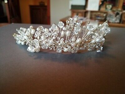 Pearl wedding crown worn once