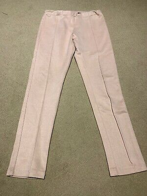 Girls Mayoral Soft Pink Elasticated Waist Trousers Age 10 Years . Winter.Spanish