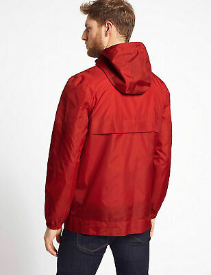 Marks And Spencer M&S Shower Resistant Pack-Away Mac Coat Red Size L Bnwt Rrp£30