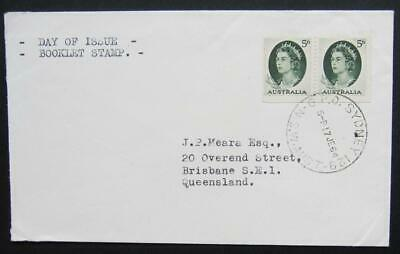 Australia - Scarce 5d booklet stamp FDC, 17 June 1964