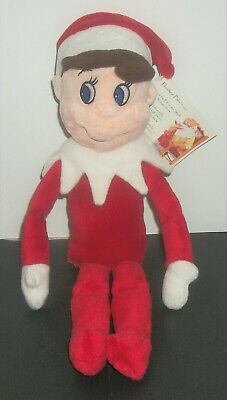 "Elf On The Shelf Plushee Pals Boy Large Plush Doll 15"" Blue Eyes Christmas Toy"