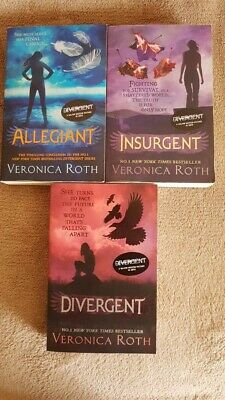 Divergent, Allegiant, Insurgent. Book 1-3 from series by Veronica Roth.