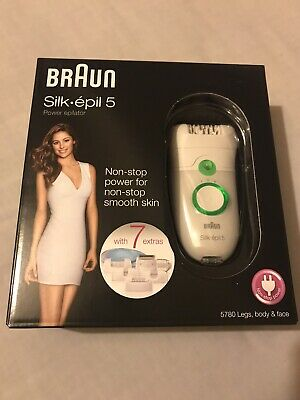 Braun Silk-epil 5 5780 Epilator - White/Green