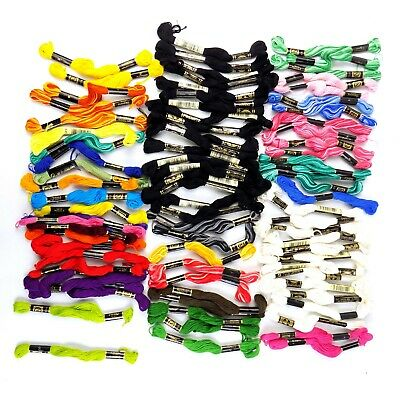 Embroidery Thread Floss Lot Of 80 Cross Stich Needlework DMC Designs For Needle