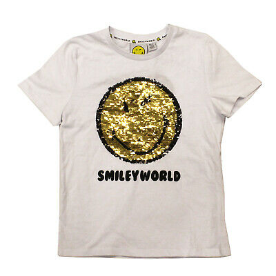 Licensed Girls Smiley World Sequenced  T-shirt Top Age 8-9 Years