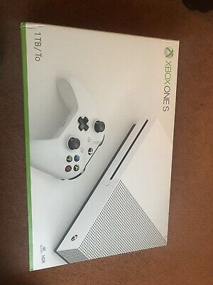 Microsoft Xbox One S 1TB White Console with Forza 3 & controller charging port