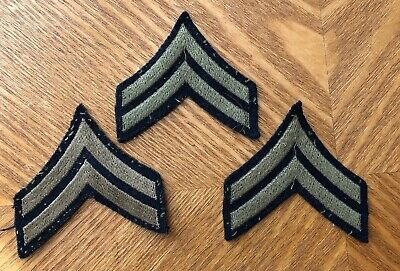 WW2 Repro American Stripes Patch Badge Army Uniform CPL Corporal Rank Badge