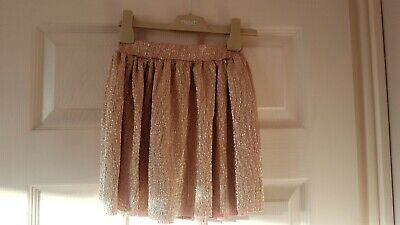 Girls NEW La Redoute Rose Gold Sparkle Skirt age 6