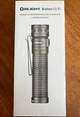 New Olight Baton Pro Ti Titanium Limited Edition Rechargeable Flashlight Edc