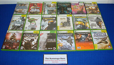 MICROSOFT XBOX 360 GAMES !! You Choose from LARGE SELECTION!  $5.95 Each !!