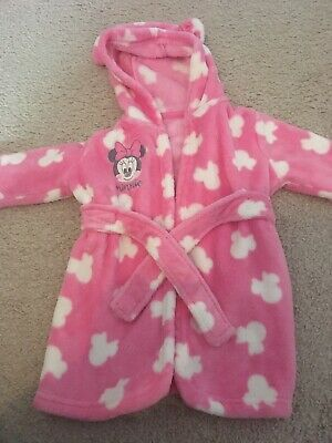 Girls Minnie Mouse Dressing Gown Age 9-12 Months