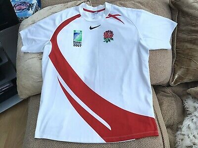 Nike England Rugby Union World Cup 2007 Home Shirt Size Large In Great Condition