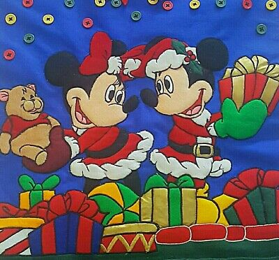 Mickey Minnie Mouse Felt Christmas Tree  Card Holder Wall Hanging