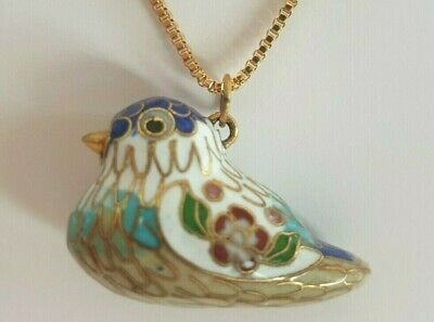 Beautiful vintage chinese cloisonne necklace Magnifier