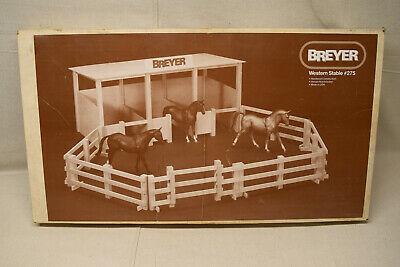 Vintage 1970's Breyer #275 Western Stable New in Box Unassembled Model Horse Toy