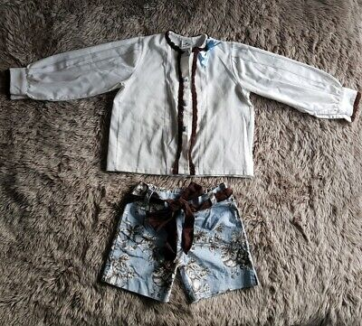 girls pretty originals blouse and shorts set outfit age 3