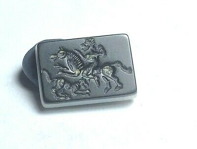 Authentic original Meso anient agate intaglio Arab KING Hunting  seal Stamp