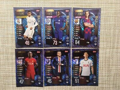 Topps Match Attax 19/20, Champions & Europa league, 100 club x 6 cards
