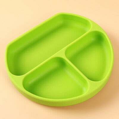 Kids Tableware Supplies Infant Plates Silicone Strong Suction Split Adhesive N7